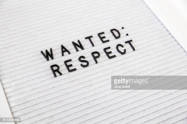 Basic Human Rights Wanted Respect Letterboard