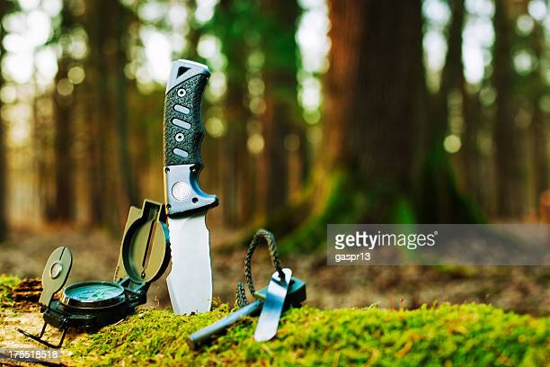 basic survival tools - survival stock pictures, royalty-free photos & images