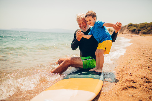 Basics of surfing with my grandpa - gettyimageskorea