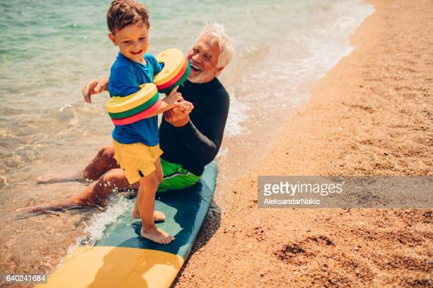 Basics of surfing with my grandpa