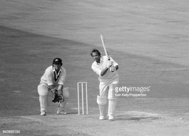 Basil D'Oliveira batting for England during his innings of 50 not out on the last day of the 3rd Test match between England and Australia at Trent...