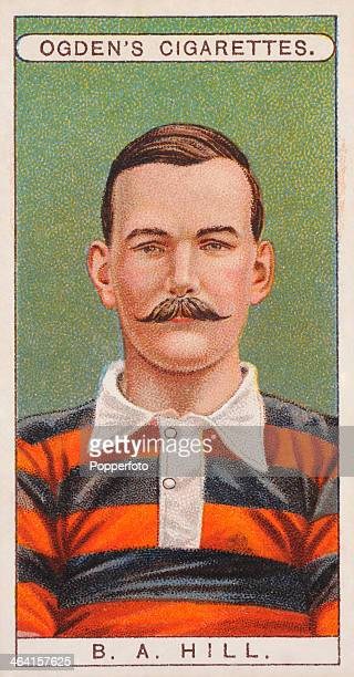 Basil Hill of Blackheath Rugby Union Club featured on a vintage cigarette card published in London circa 1908