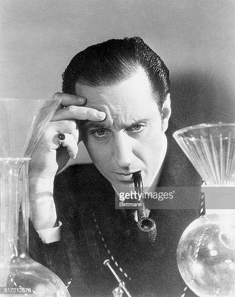 Basil Rathbone as detective Sherlock Holmes in the Twentieth Century Fox film 'The Hound of the Baskervilles'