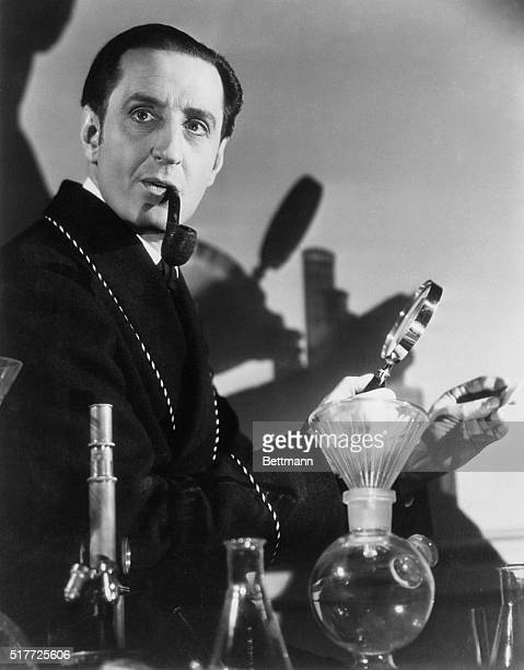 Basil Rathbone as Sherlock Holmes n The Hound of the Baskervilles