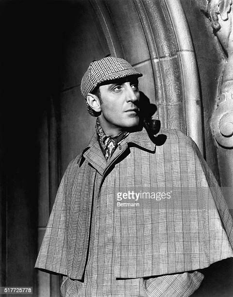 Basil Rathbone as Sherlock Holmes n The Hound of the Baskervilles.