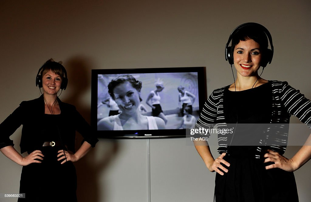 Basil Sellars Art Prize. Winners Tarryn Gill and Pilar Mata Dupont in front of : News Photo