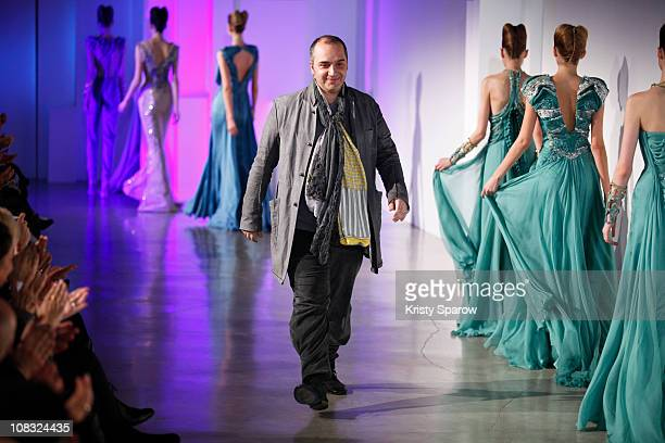 Basil Soda walks the runway during the Basil Soda show as part of the Paris Haute Couture Fashion Week Spring/Summer 2011 at Palais De Tokyo on...
