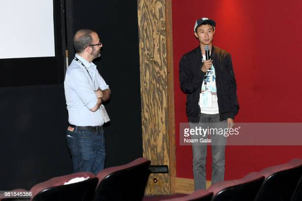 Basil Tsiokos and director Bing Liu attend a screening of 'Minding the Gap' during the 2018 Nantucket Film Festival Day 3 on June 22 2018 in...