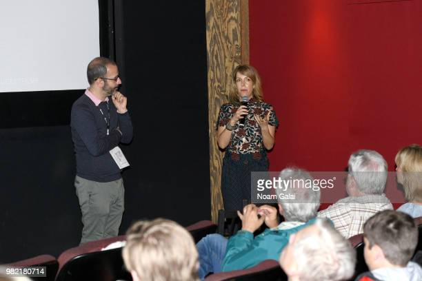 Basil Tsiokos and Nancy Schwartzman attend the screening of 'Roll Red Roll' at the 2018 Nantucket Film Festival Day 4 on June 23 2018 in Nantucket...