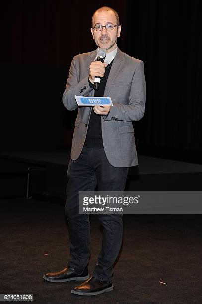 """Basil Tsiokos, Director of Programming for DOC NYC, attends the New York premiere of """"Swim Team"""" at DOC NYC on November 17, 2016 in New York City."""