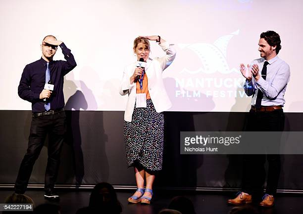 Basil Tsiokos Executive Director of the Nantucket Film Festival Mystelle Brabbee Bill Curran give introduction at the 2016 Nantucket Film Festival...