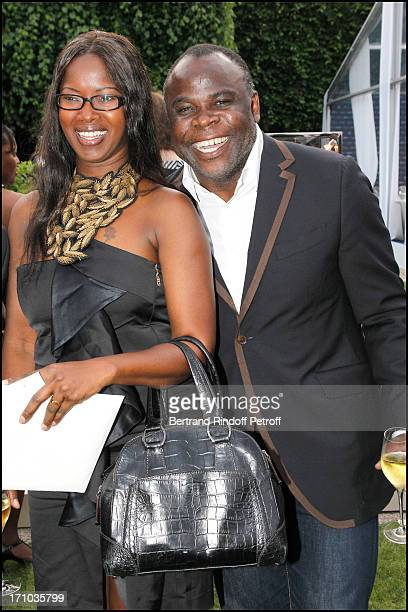 Basile Boli and his wife at Charity Dinner Sponsored By Longines Elegance Is An Attitude In Benefit Of Foundation Agassi At Museum Rodin In Paris