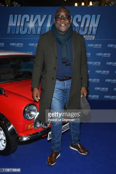 Basile Boli attends The 'Nicky Larson Et Le Parfum De Cupidon' Premiere February 01 2019 in Paris France