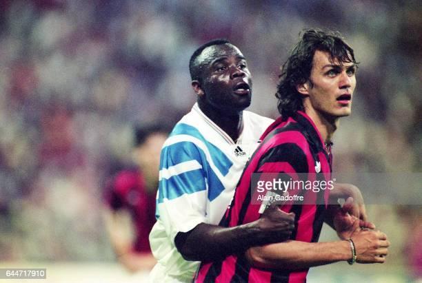 Basile BOLI / Paolo MALDINI Milan AC / Marseille Finale de la Ligue des Champions 1993 Photo Alain Gadoffre / Icon Sport