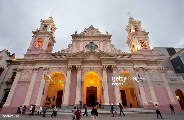 Basilica Cathedral At Dusk, Salta, Salta, Argentina