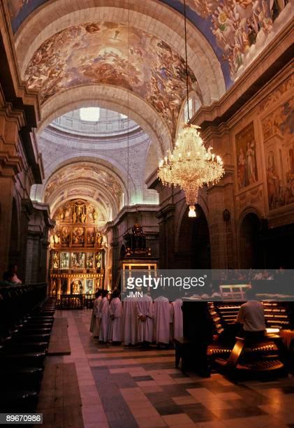 Basilica de El Escorial Madrid Escolania The basilica of the Monastery of El Escorial is the central building in the El Escorial complex XVIth...