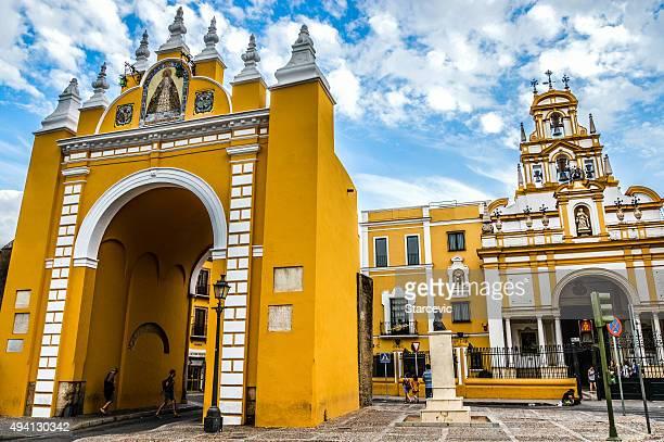 basílica de la macarena en sevilla, españa - provincia de sevilla fotografías e imágenes de stock