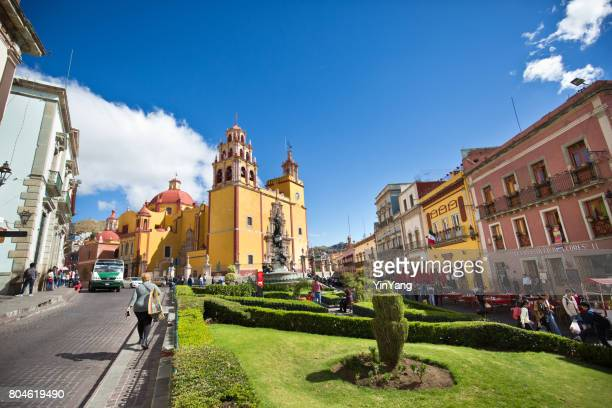 basilica de nuestra senora church of guanajuato, mexico - basilica of our lady of guadalupe stock pictures, royalty-free photos & images