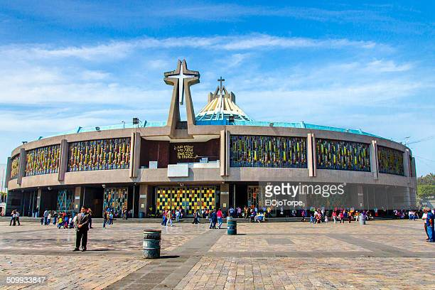 basilica de nuestra senora guadalupe - basilica of our lady of guadalupe stock pictures, royalty-free photos & images