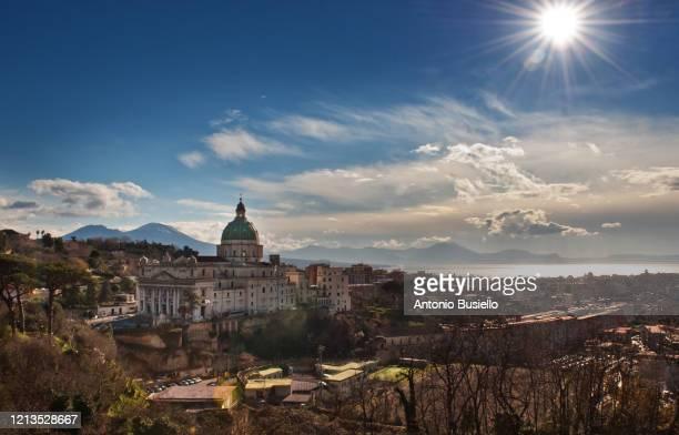 basilica dell'incoronata madre del buon consiglio ( capodimonte  cathedral ) - consiglio stock pictures, royalty-free photos & images