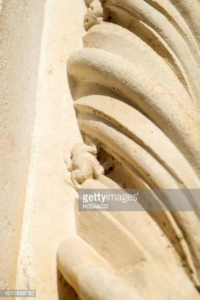 Basilica di Collemaggio Facade Frog Particolor LAquila Abruzzo Italy Europa