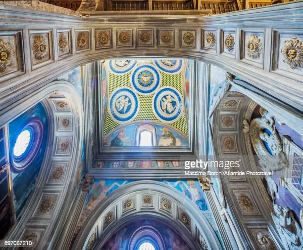 basilica di san miniato al monte, cappella del cardinale del portogallo - san miniato stock-fotos und bilder