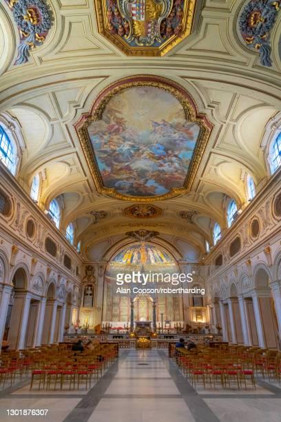 basilica di santa cecilia in trastevere, trastevere, rome, lazio, italy, europe - alan copson stock pictures, royalty-free photos & images