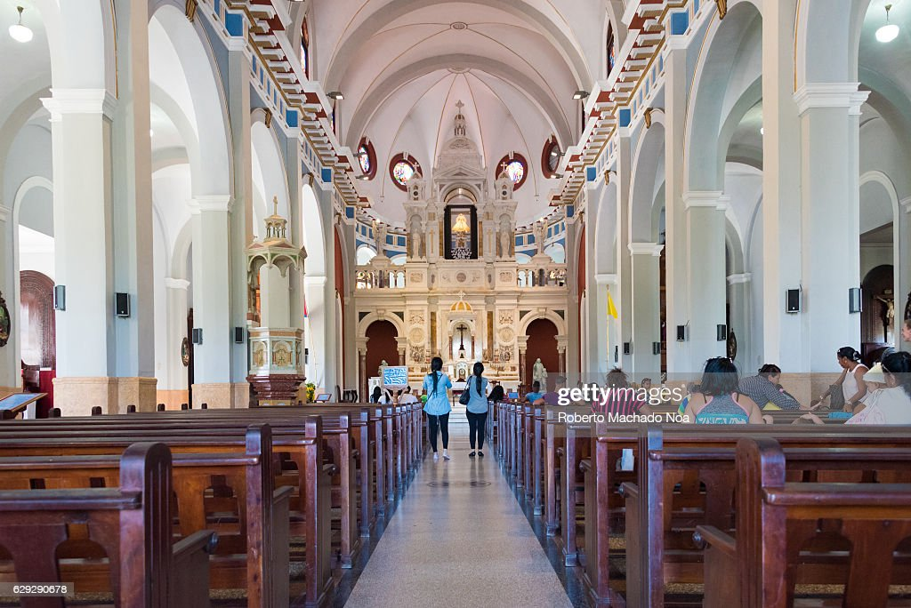Basilica for Our Lady of the Charity of El Cobre, Interior... : Nachrichtenfoto