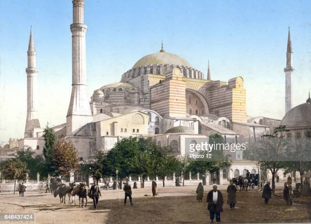 Basilica Hagia Sophia Istanbul in Constantinople Until 1453 served as a cathedral From May 1453 to 1934 it was a mosque now a museum