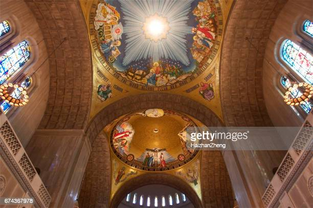 basilica national shrine of the immaculate conception - basilica of the national shrine of the immaculate conception stock pictures, royalty-free photos & images
