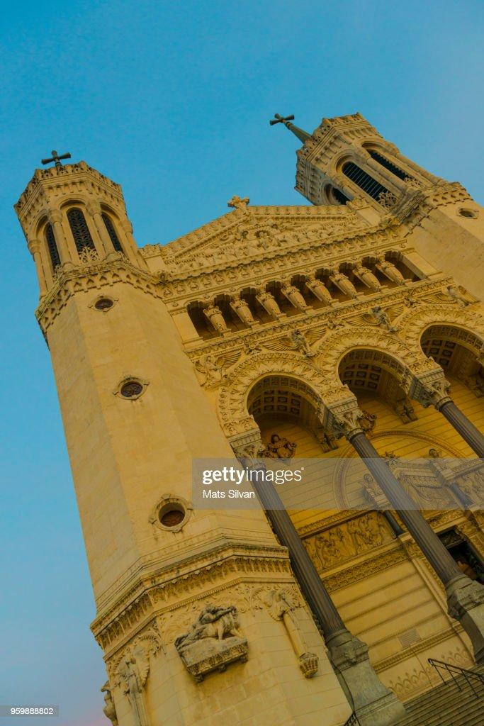 Basilica Notre Dame de Fourviere : Stock-Foto