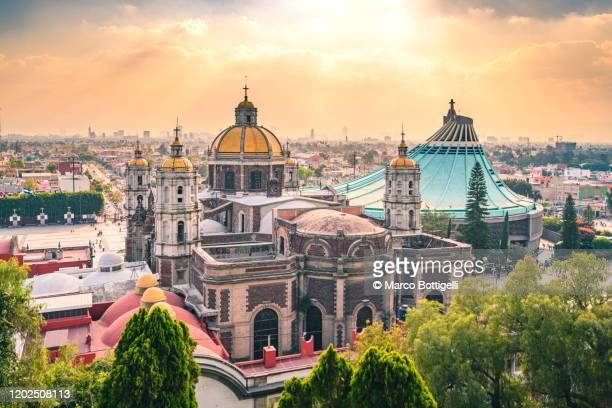 basilica of our lady of guadalupe, mexico city, mexico - mexico city stock pictures, royalty-free photos & images