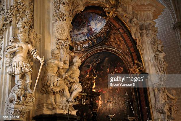 basilica of our lady of the pillar - zaragoza province stock pictures, royalty-free photos & images
