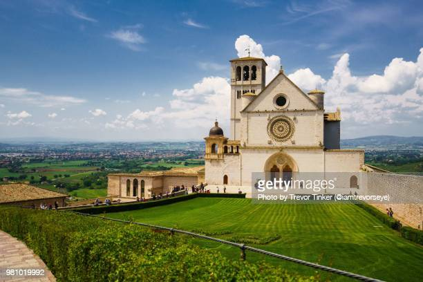 basilica of saint francis - basilica stock pictures, royalty-free photos & images