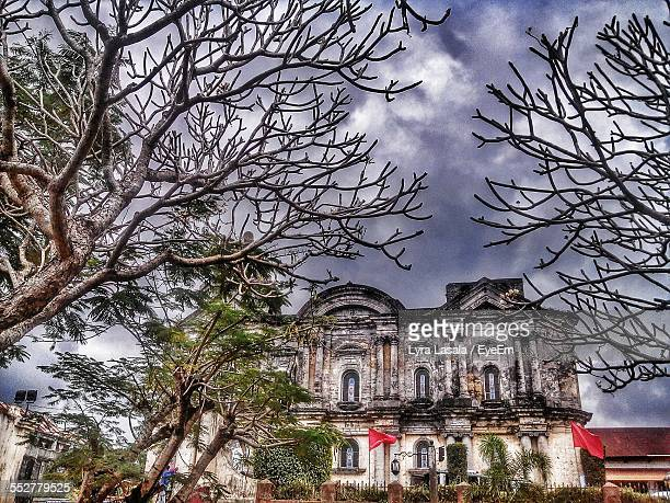 basilica of saint martin of tours against cloudy sky - lyra stock photos and pictures
