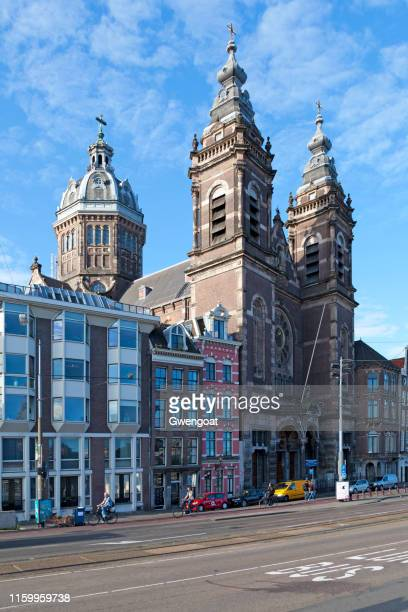 basilica of saint nicholas in amsterdam - gwengoat stock pictures, royalty-free photos & images