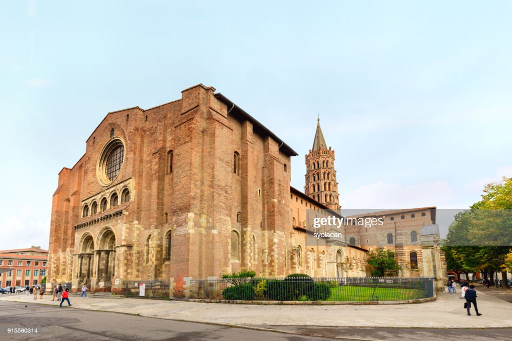 Basilica of Saint Sernin, Toulouse : Stock Photo