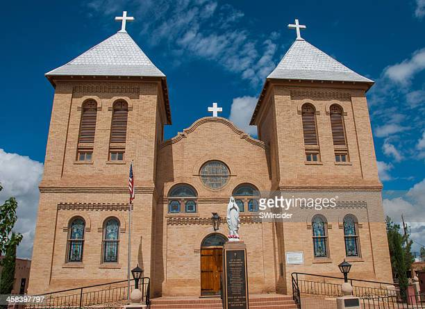 basilica of san albino - las cruces new mexico stock pictures, royalty-free photos & images