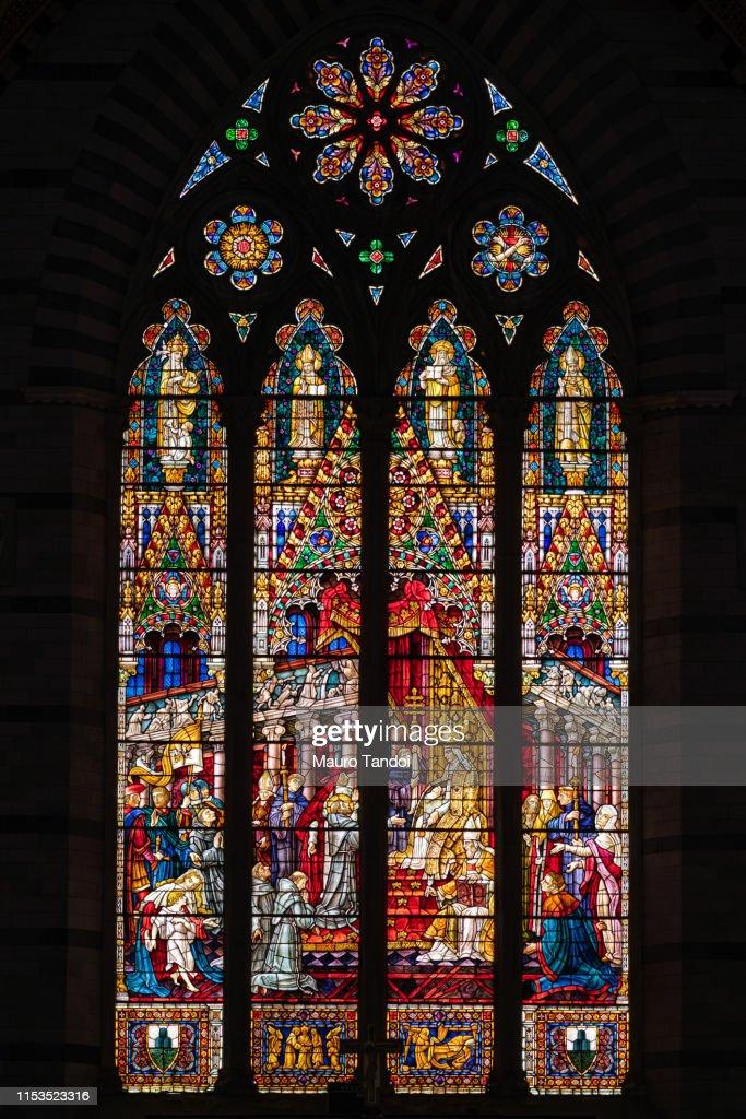 Basilica of San Francesco, Siena, Tuscany, Italy : Foto stock