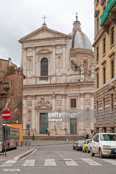 basilica of san giovanni dei fiorentini in rome - gwengoat stock pictures, royalty-free photos & images