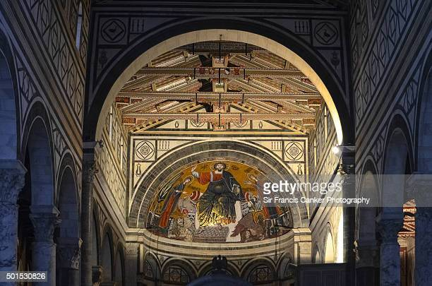 "basilica of ""san miniato al monte"" closeup interior details, florence, tuscany - san miniato stock pictures, royalty-free photos & images"