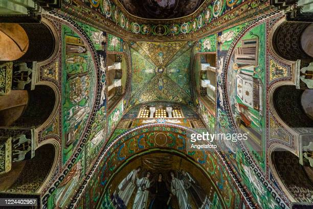 basilica of san vitale church in ravenna, italy - byzantine stock pictures, royalty-free photos & images