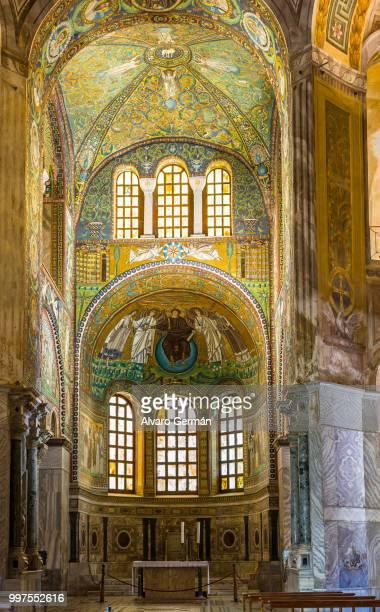 basilica of san vitale in ravenna, emilia-romagna. italy. - basilica of san vitale ストックフォトと画像