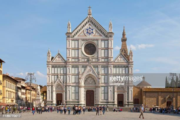 basilica of santa croce in florence - basilica stock pictures, royalty-free photos & images