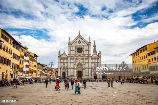 basilica of santa croce - florence italy stock pictures, royalty-free photos & images