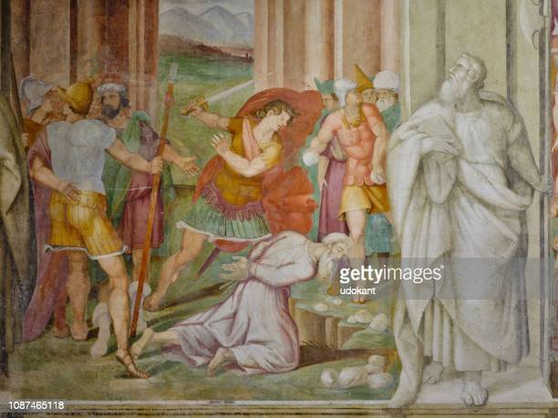 basilica of santi nereo e achilleo, rome italy - martyr stock pictures, royalty-free photos & images