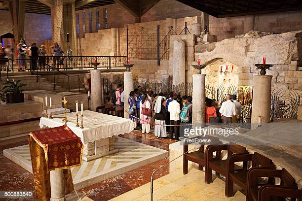 basilica of the annunciation, nazareth, israel - basilica stock pictures, royalty-free photos & images