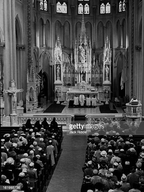 MAY 15 1961 MAY 16 1961 Basilica of the Immaculate conception Catholic Women at Cathedral Mass Some 200 women attending the twoday convention of the...