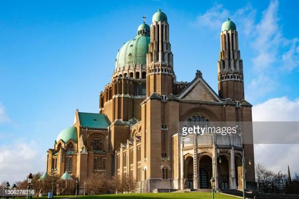 "basilica of the sacred heart in koekelberg, brussel, belgium. - ""sjoerd van der wal"" or ""sjo"" stock pictures, royalty-free photos & images"
