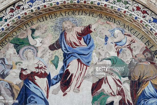 Basilica San Marco The Ascension of Jesus Christ Mosaic Venice Italy